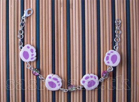 bracciale zampine pink