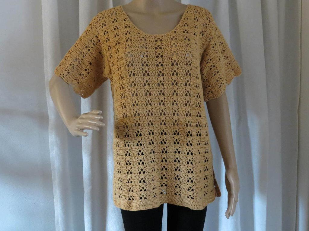maglia in cotone povero color salmone