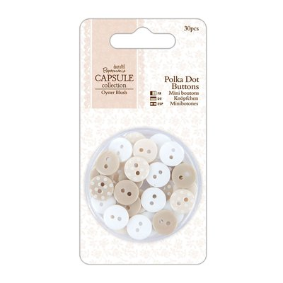 Set 30 bottoni - Oyster Blush