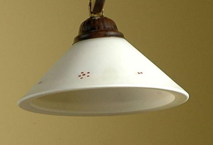 """Cono in vetro di murano bianco latte con decoro """"Gatto"""",  ricambio per lampadari"""