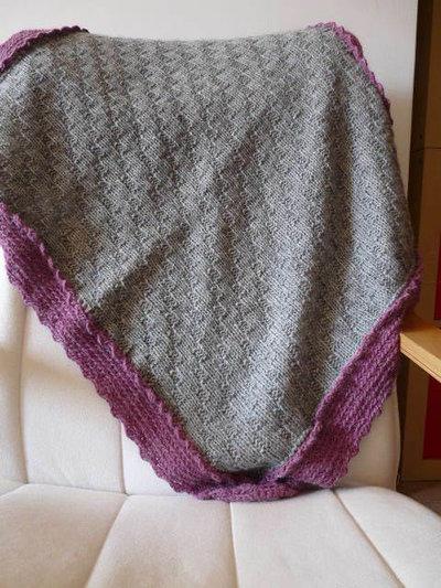 Copertina in lana per bimbi fatta a mano