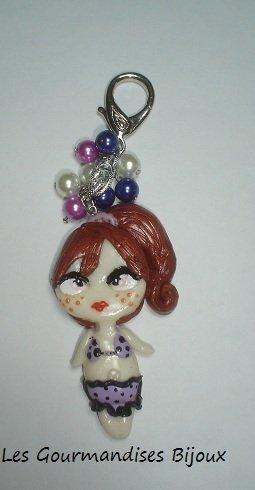 portachiavi per borsa fashion doll les gourmandises bijoux
