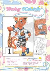 SCHEDA PUNTO CROCE PER COPERTINE CULLA E LETTINO - BABY XSTITCH COLLECTION N. 44