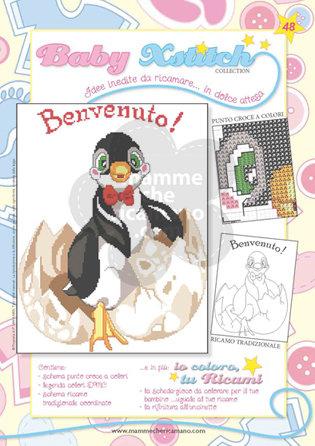 SCHEDA PUNTO CROCE PER COPERTINE CULLA E LETTINO - BABY XSTITCH COLLECTION N. 48
