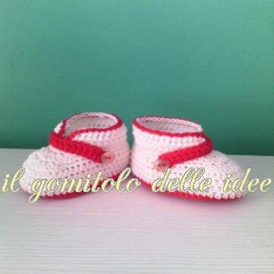 scarpe baby uncinetto