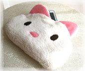 Custodia per cellulare smartphone - Gatto bianco