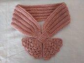 Sciarpina di cotone rosa