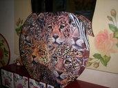 piatto in vetro tigri
