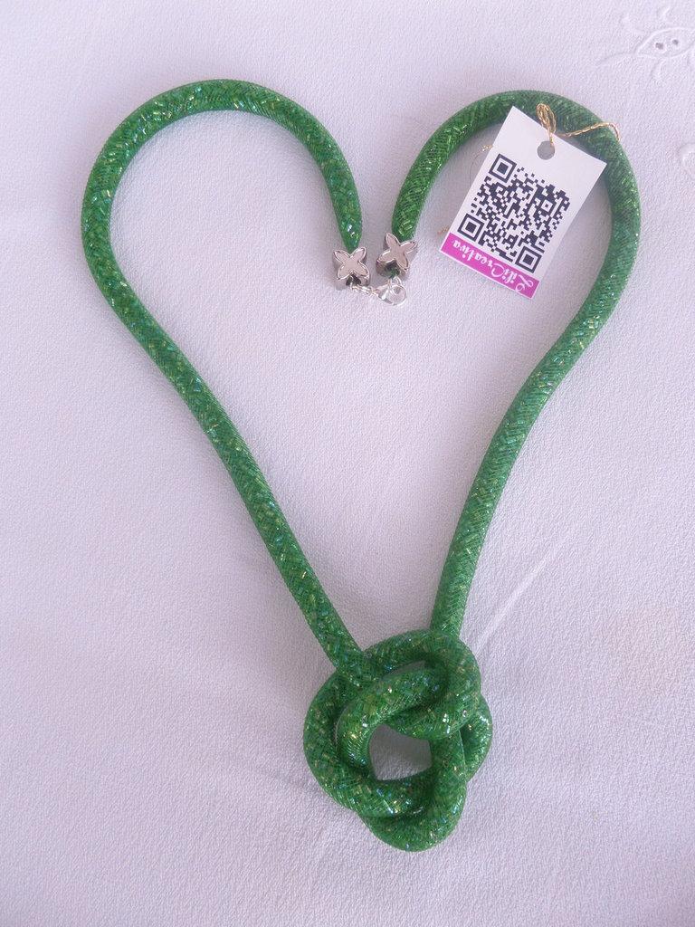 Collana GREEN rete cm.100