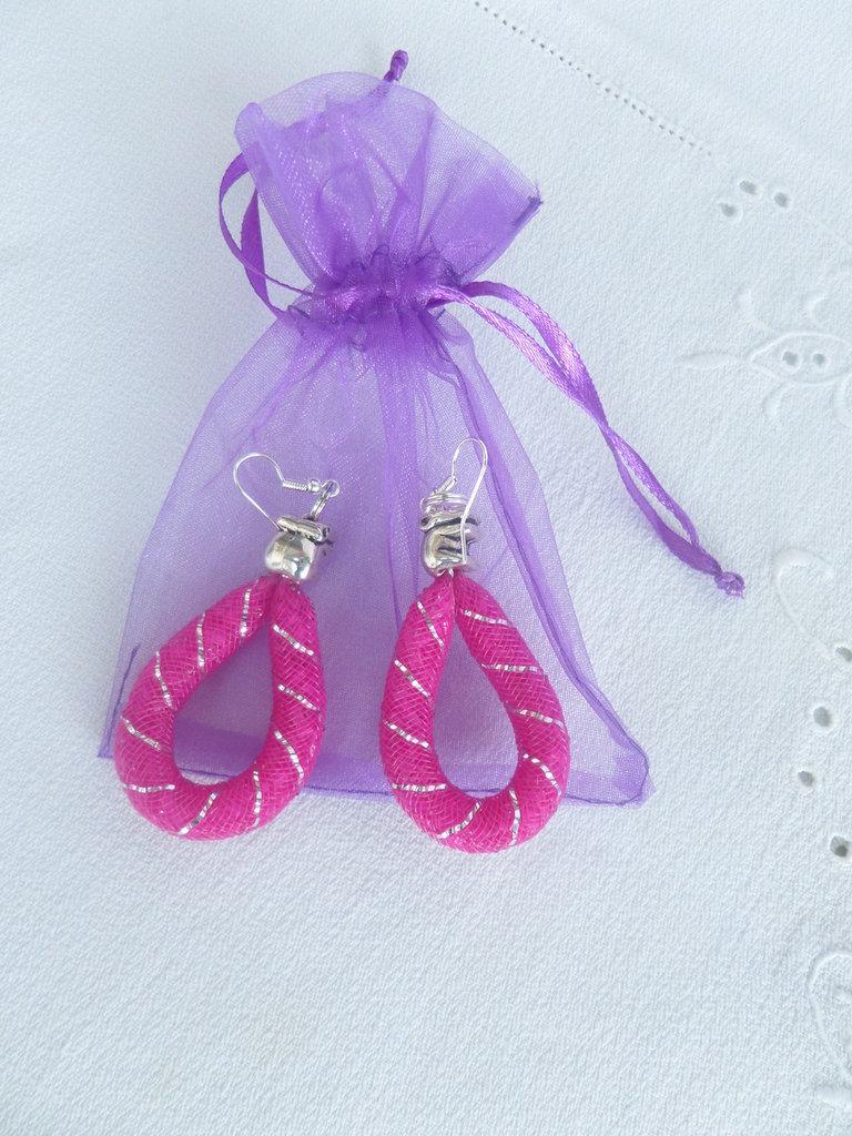 """orecchini rete """"pink elephant"""" new collection primavera"""