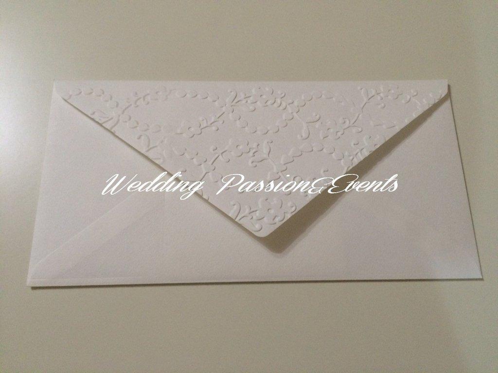 Partecipazione busta rettangolare decorata