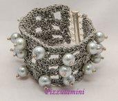 Bracciale filato gioiello e perle