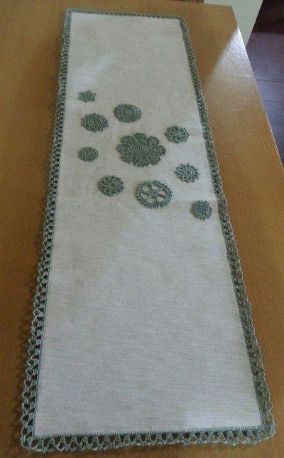 Centrotavola in Stoffa e Crochet