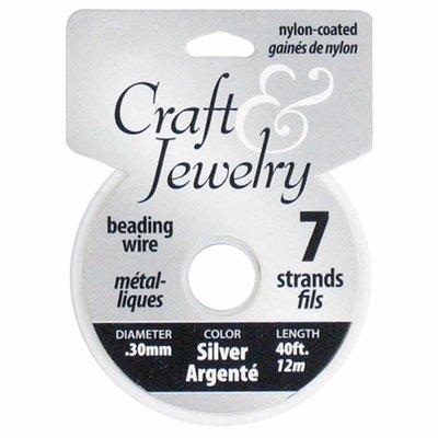 Filo per perline 0,30 mm - Silver