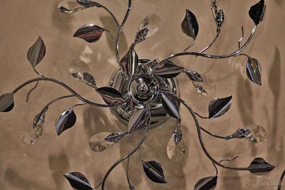 Plafoniere Con Swarovski : Lampadario plafoniera o cm fumè con spectra cristallo di