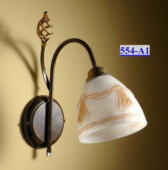 554-A1 applique 1 luce in ferro battuto