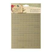 Mini alfabeto adesivo - Nature's Gallery