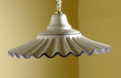 54 Lampadario sospensione Plissè cm 30 in ceramica