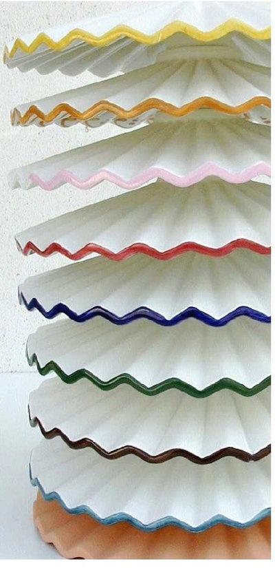 Piatti In Ceramica Per Lampadari.54 Lampadario Sospensione Plisse Cm 30 In Ceramica
