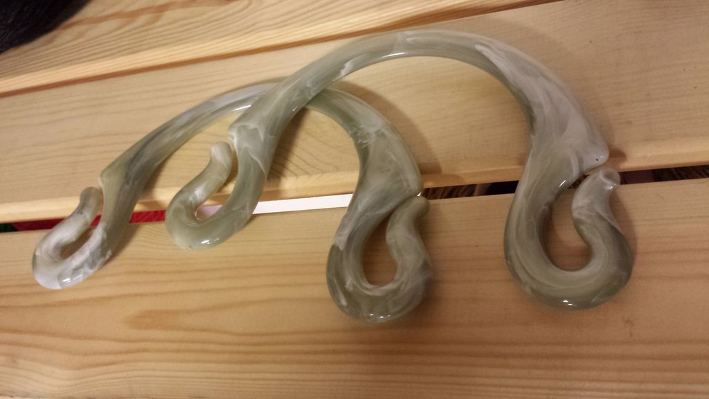 Coppia di manici PIPOCA col.Variegato grigio verde