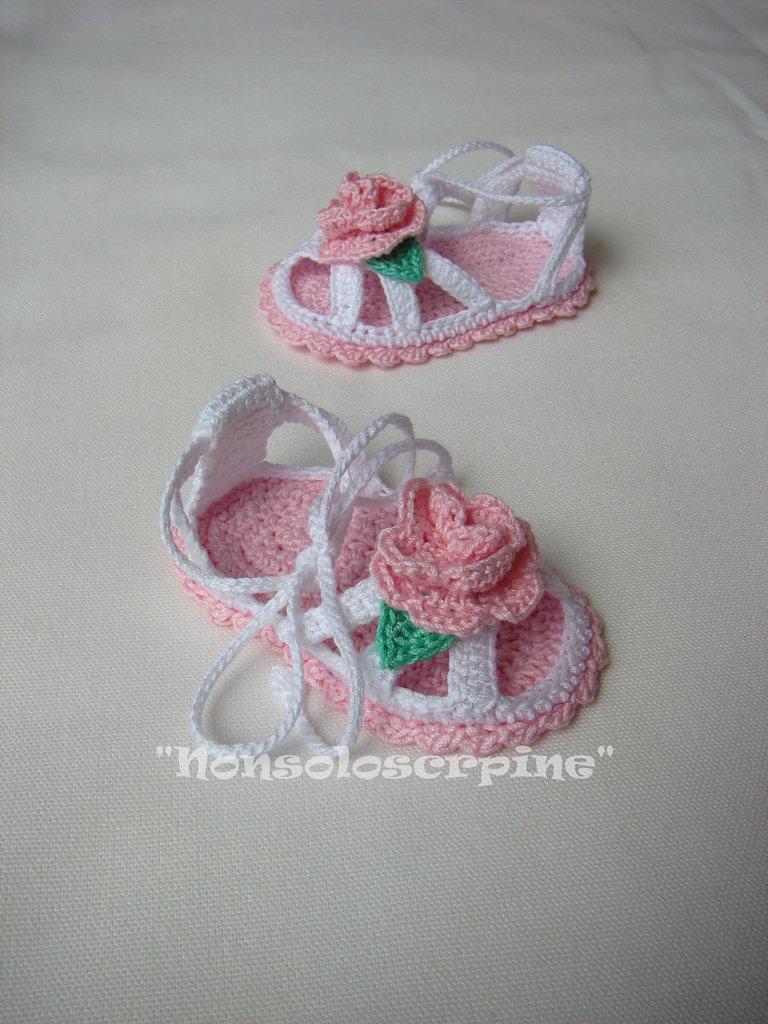 "Sandali ""La rosa"""