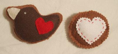 2 biscotti- Colomba e cuoricino zig zag