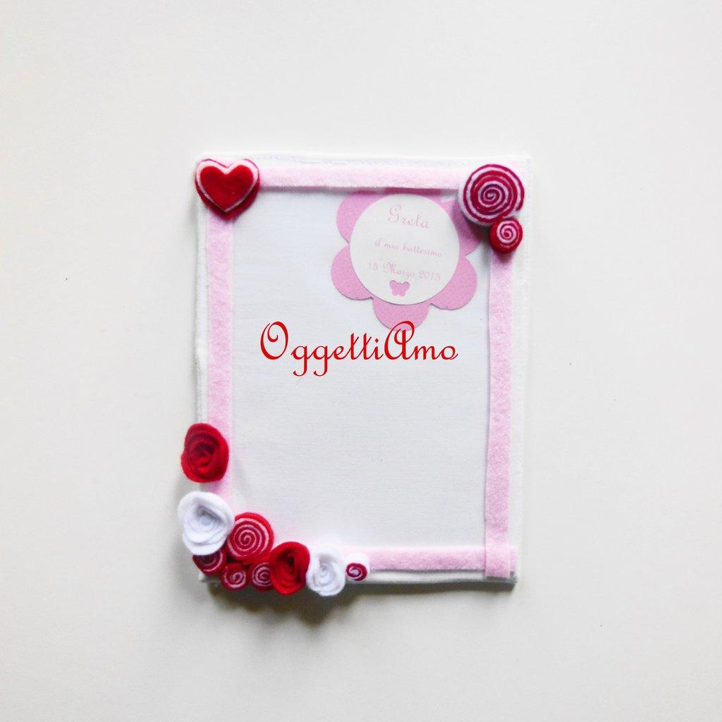 Cornici in stoffa per foto ricordo veramente uniche: una cornice personalizzata per la bomboniera dei vostri cari