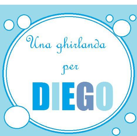 Una ghirlanda celeste per Diego: una decorazione di lettere di stoffa imbottite per la sua cameretta!