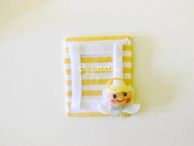 Cornici in feltro e cotone per le bomboniere del vostro bambino: angioletti per un grazioso ricordo calamitato!