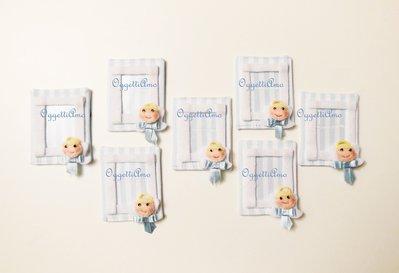 Cornici calamitate per le bomboniere del vostro bambino: angioletti in feltro per ricordare un momento speciale!