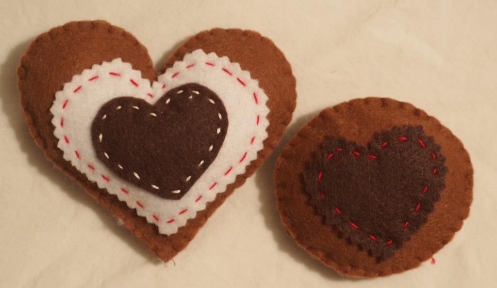 SET 2 biscotti: Cuore e frollino con cuore