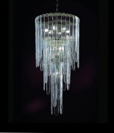 Ricambio Cascata in vetro soffiato di murano per lampadari Mazzega cm 50