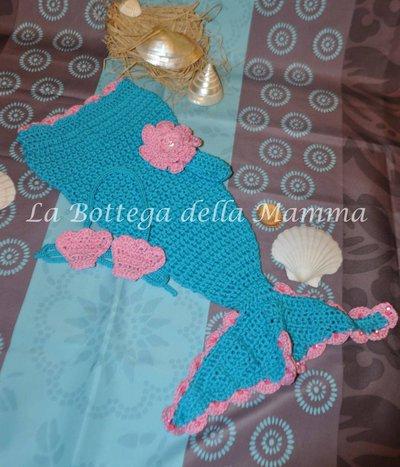 Completo Baby SIrena turchese e rosa