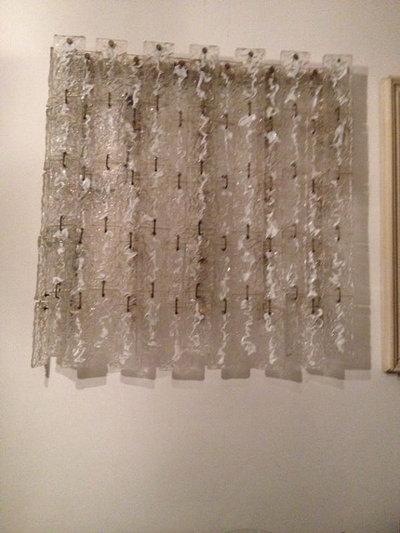 ... in vetro soffiato lattimo di murano per lampadari Venini e Mazzega