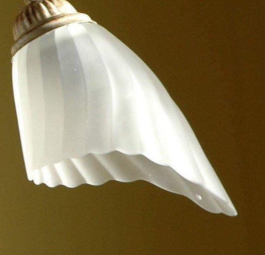 Tazzina in vetro soffiato satinata 4600 ricambio per lampadari