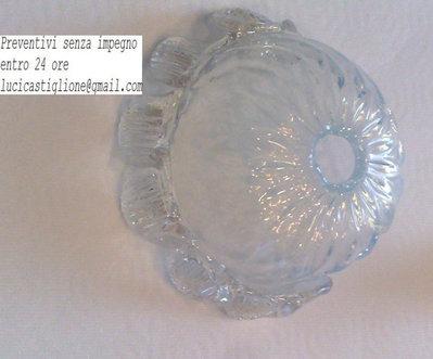 Tazza  in vetro soffiato Opalino,  ricambio per lampadari classici di murano