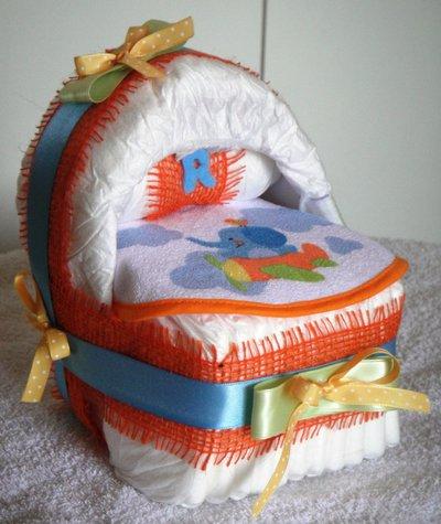Baby culla di pannolini arancione country style