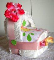 Baby culla di pannolini - idea regalo nascita