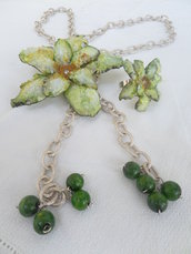 "Collana ""greenflower"" collection love sospeso trasparente"