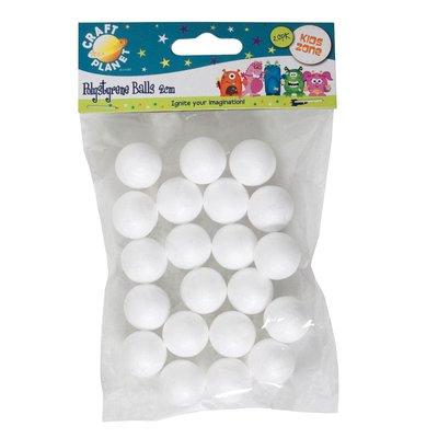 Set 20 sfere di polistirolo - 2 cm