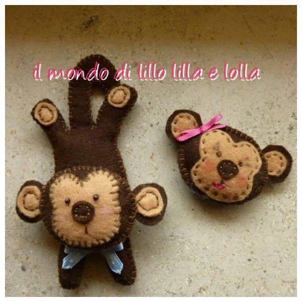scimmietta divertente bomboniera