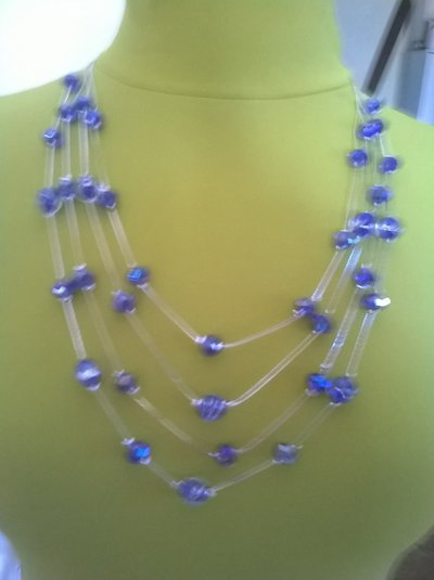 collana in blu