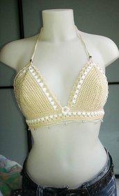 Bikini bicolore in cotone Filo di Scozia realizzato su misura