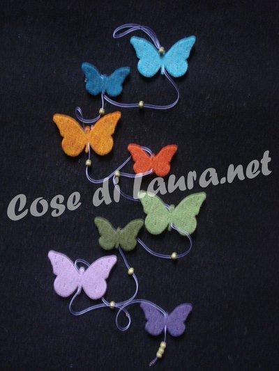 Ghirlanda decorativa farfalle