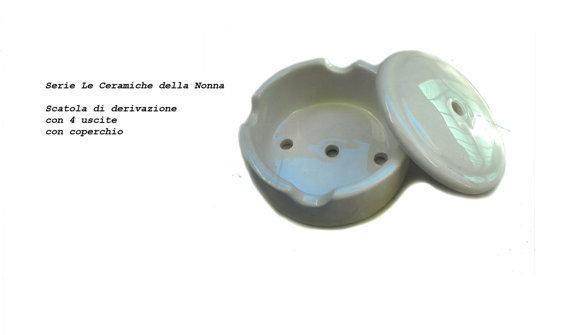 54 Scatola di derivazione  in ceramica 4 uscite