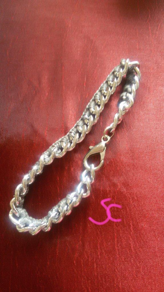 Bracciale catena - uncinetto da uomo