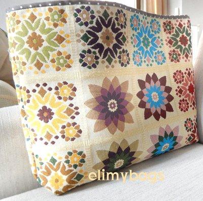 Cesta per la casa di stoffa con fiori colorati fatto a mano♥