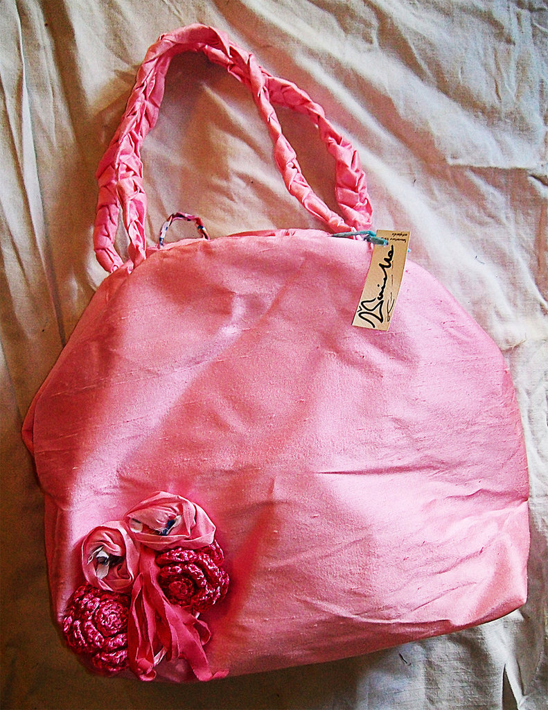 Borsa rosa floreale