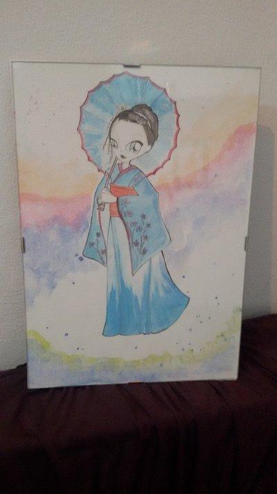 quadro caricatura Sayuri memorie di una geisha