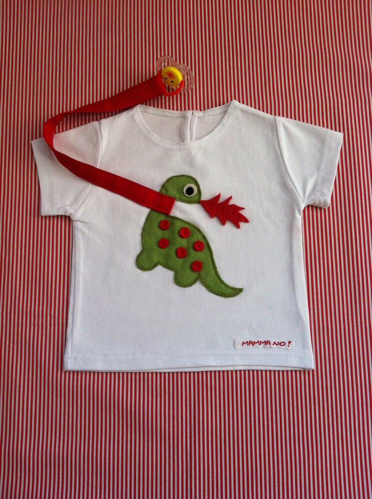 Maglietta porta-ciuccio MAMMANO bimbo draghetto